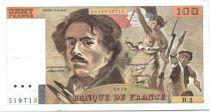 France 100 Francs Delacroix - 1978 Série D.2 - Non Hachuré - TTB