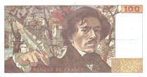 France 100 Francs Delacroix - 1978 Série E.8 - Grand filigrane - TTB