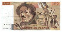 France 100 Francs Delacroix - 1978 Série F.9 - Petit filigrane - TTB