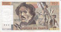 France 100 Francs Delacroix - 1978 Série G.1 - Non hachuré - TB+