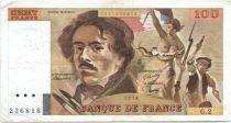 France 100 Francs Delacroix - 1978 Série G.2 - Non Hachuré - TB +