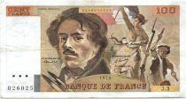 France 100 Francs Delacroix - 1978 Série J.3 - Non Hachuré - TB +