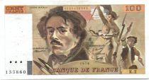 France 100 Francs Delacroix - 1978 Série K.2 - Non Hachuré - TB +