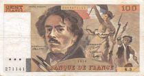 France 100 Francs Delacroix - 1978 Série K.3 - Hachuré - TTB