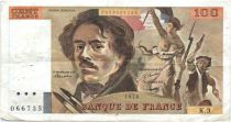 France 100 Francs Delacroix - 1978 Série K.3 - Non Hachuré - TB +