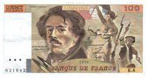 France 100 Francs Delacroix - 1978 Série K.8 - Grand filigrane - TTB