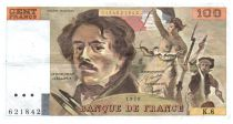 France 100 Francs Delacroix - 1978 Série K.8 - Grand filigrane - TTB