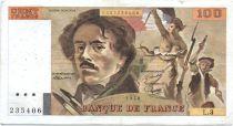 France 100 Francs Delacroix - 1978 Série L.3 - Non Hachuré - TB +