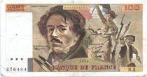 France 100 Francs Delacroix - 1978 Série N.2 - Non Hachuré - TB +