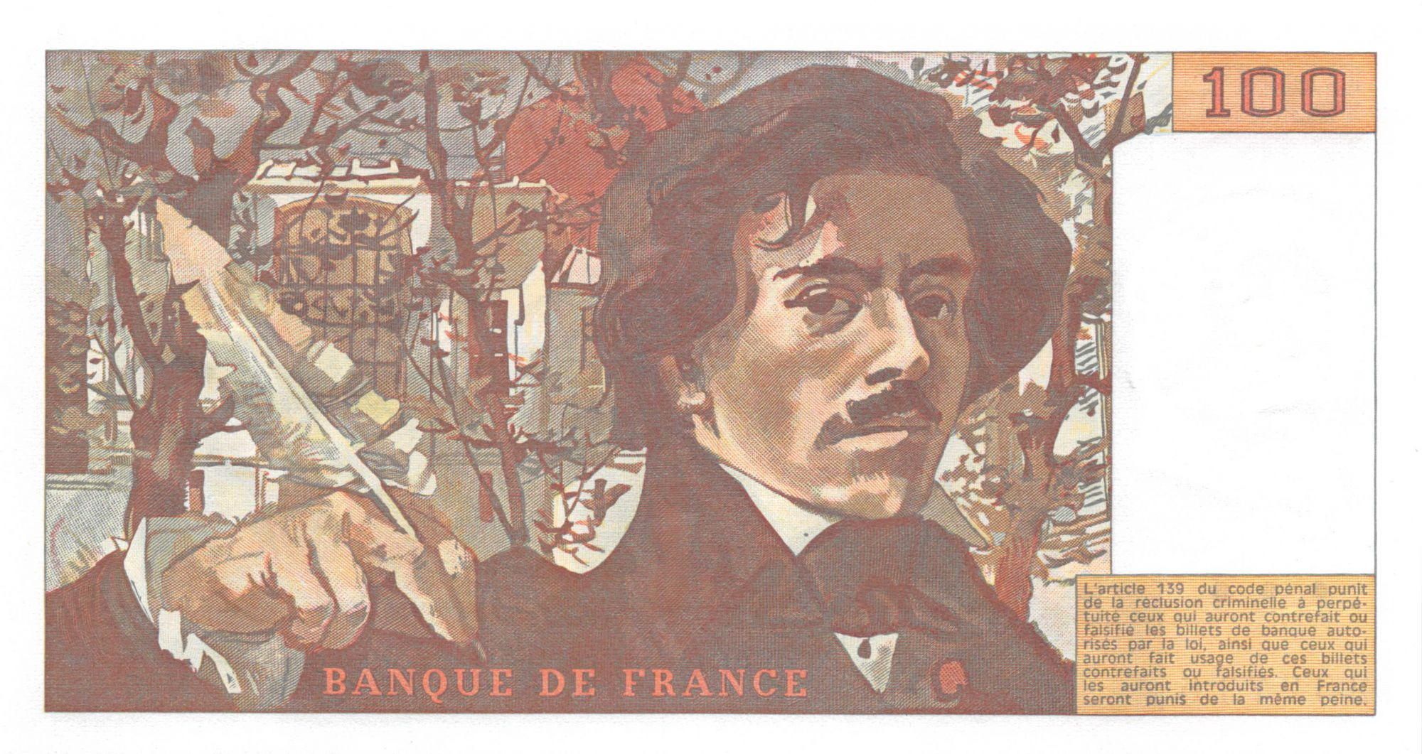 France 100 Francs Delacroix - 1978 Série N.5 - SPL+