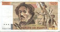 France 100 Francs Delacroix - 1978 Série O.2 - Non Hachuré - TB +