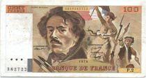 France 100 Francs Delacroix - 1978 Série P.2 - Non Hachuré - TB +