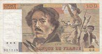 France 100 Francs Delacroix - 1978 Série Q.3 - Hachuré - TB+