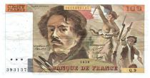 France 100 Francs Delacroix - 1978 Série Q.9 - Grand filigrane - TTB