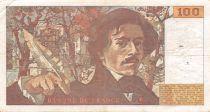 France 100 Francs Delacroix - 1978 Série R.4 - Hachuré - TB