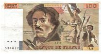France 100 Francs Delacroix - 1978 Série S.8 - Grand filigrane - TTB