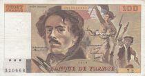France 100 Francs Delacroix - 1978 Série T.2 - Non Hachuré - TB +
