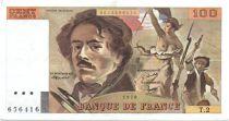 France 100 Francs Delacroix - 1978 Série T.2 - Non Hachuré - TTB