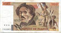 France 100 Francs Delacroix - 1978 Série T.3 - Non Hachuré - TB +