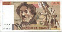 France 100 Francs Delacroix - 1978 Série U.1 - Non Hachuré - TTB