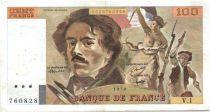 France 100 Francs Delacroix - 1978 Série V.1 - Non Hachuré - TTB