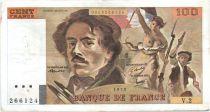 France 100 Francs Delacroix - 1978 Série V.2 - Non Hachuré - TB +