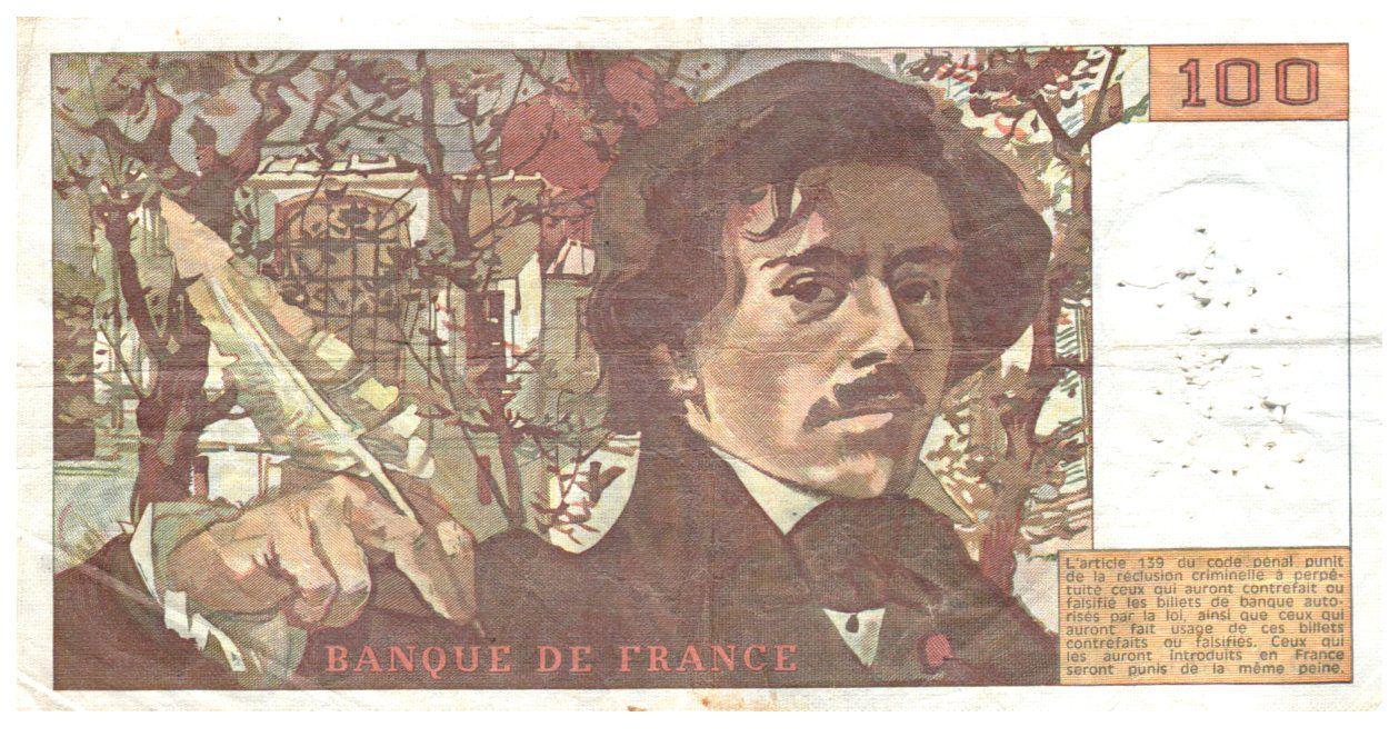 France 100 Francs Delacroix - 1978 Série V.3 - TB+