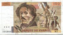 France 100 Francs Delacroix - 1978 Série W.2 - Non Hachuré - TB +