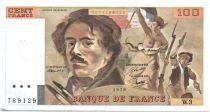 France 100 Francs Delacroix - 1978 Série W.3 - Hachuré - TTB
