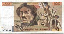 France 100 Francs Delacroix - 1978 Série W.3 - Non Hachuré - TB +