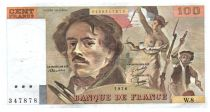 France 100 Francs Delacroix - 1978 Série W.8 - Grand filigrane - TTB