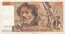 France 100 Francs Delacroix - 1978 Série X.3 - Hachuré - TTB