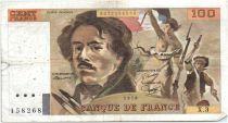 France 100 Francs Delacroix - 1978 Série X.3 - Non Hachuré - TB +
