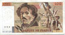 France 100 Francs Delacroix - 1978 Série Y.1 - Non Hachuré - TB+
