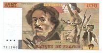 France 100 Francs Delacroix - 1978 TTB Hachuré
