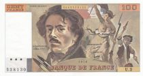 France 100 Francs Delacroix - 1979 - Serial U.3 - UNC