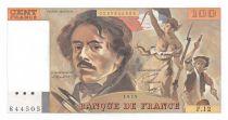 France 100 Francs Delacroix - 1979 Serial F.12 - aUNC