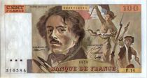 France 100 Francs Delacroix - 1979 Serial F.14 - XF