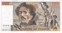 France 100 Francs Delacroix - 1979 Serial P.17 - VF+