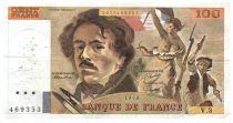 France 100 Francs Delacroix - 1979 Serial V.3 - F+