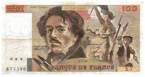 France 100 Francs Delacroix - 1979 Serial X.1 - F+