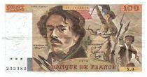 France 100 Francs Delacroix - 1979 Serial X.3 - F+