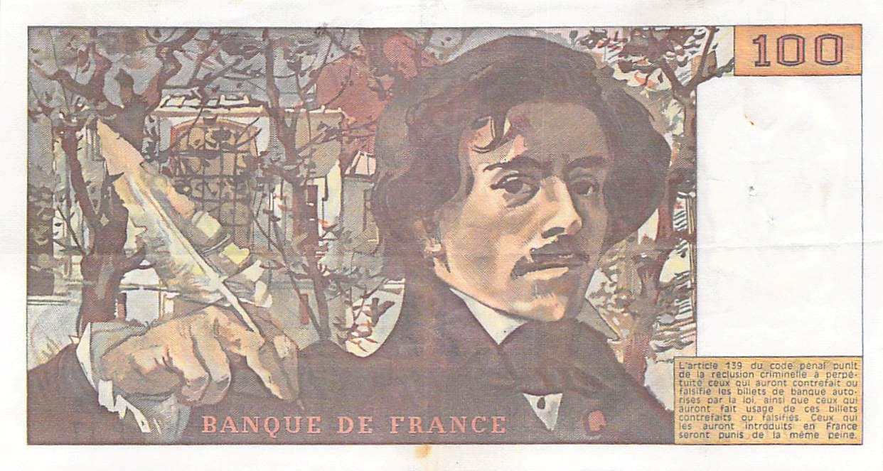 France 100 Francs Delacroix - 1979 Série P.17 - TTB+