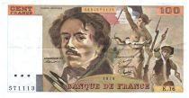 France 100 Francs Delacroix - 1979 TTB Hachuré