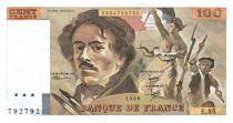 France 100 Francs Delacroix - 1980 Serial E.35 - VF+