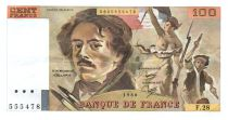 France 100 Francs Delacroix - 1980 Serial F.28 - VF+