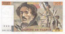 France 100 Francs Delacroix - 1980 Serial H.23 - VF+