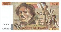 France 100 Francs Delacroix - 1980 Serial M.35 - XF