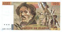 France 100 Francs Delacroix - 1980 TTB Hachuré