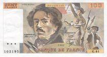 France 100 Francs Delacroix - 1981 Serial G.44 - XF